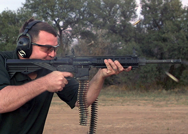 At the Range: Slide Fire Belt Fed Rifle