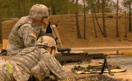 The 240B machine gun was developed as a general purpose weapon system, and is currently in use by