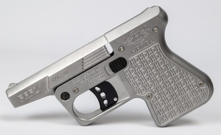In 2013, Heizer Defense introduced the PS1 Pocket Shotgun, capable of firing a single .410 gauge or