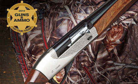 Unveiled at the 2014 SHOT Show surrounded by the tune of violins racing to the sound of a