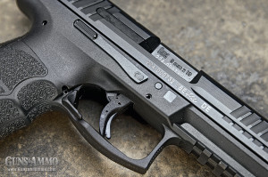 There are slide-release levers on both sides of the VP9. When considered with the magazine release, the controls are completely ambidextrous.