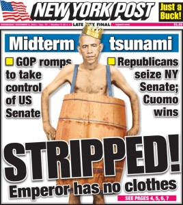New York Post cover from Nov. 5, 2014.