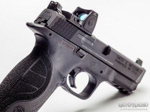 "The S&W M&P 9 C.O.R.E. 4.25"" Pro Series features factory slide milling for quick MRDS attachment."