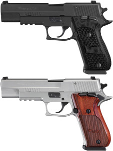 Top: 10mm P220 Nitron Elite. Bottom: 10mm P220 Stainless Elite.