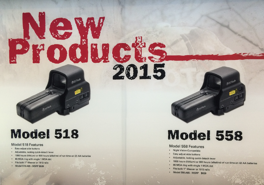 First Look: EOTech 518 & 558 Holographic Sights