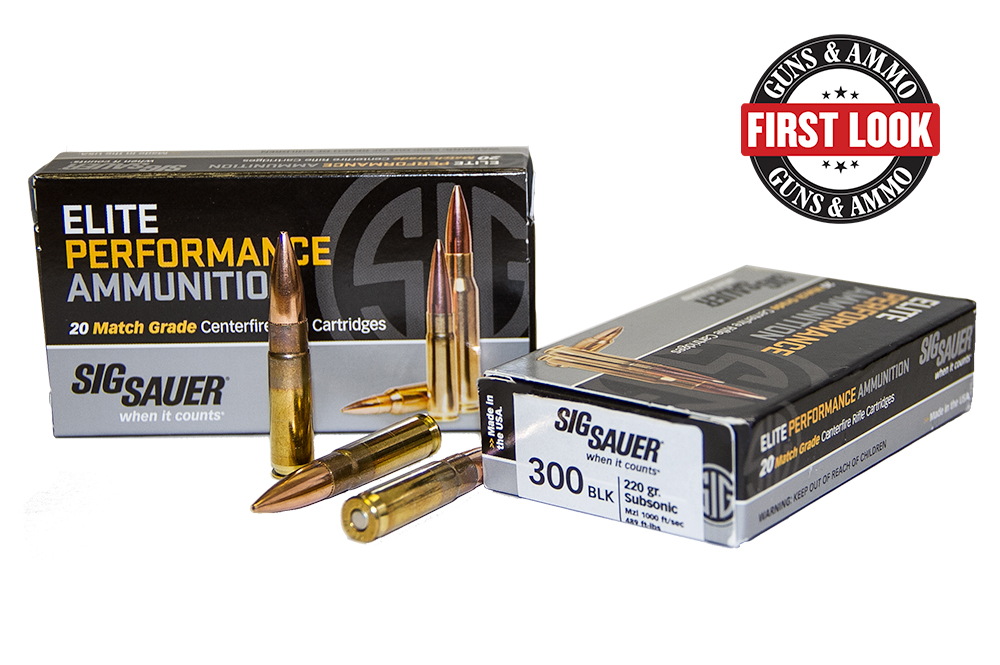 SIG Sauer Introduces Elite Performance .300 AAC Blackout Ammunition