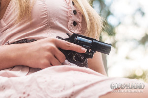 NSSF research shows women aren't always shopping for pink guns, as depicted by this NSSF report covers this issue in detail. Taurus Model 85 revolver.