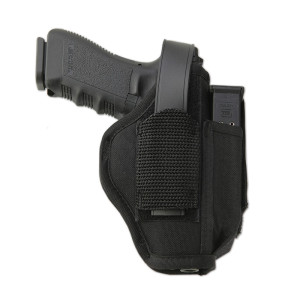 The Sidekick Ambidextrous Holster can be worn inside or outside the waistband.