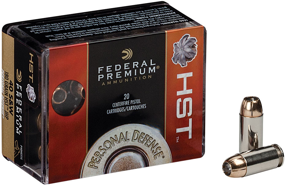 Designed to penetrate superficial barriers such as clothing and glass but reliably expand on impact with soft tissue, Federal's HST .40 S&W is an excellent personal defense option.