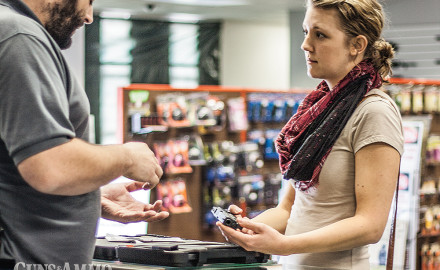 Research shows women are consulting with local gun stores for purchasing information. Photo: Taurus Carry On 2015