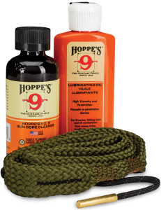 Hoppe's No. 9 bore cleaner, lubricant and bore snake make an effective maintenance team.