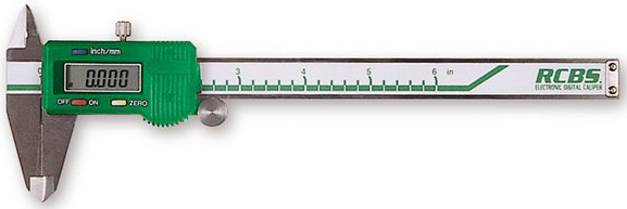 Digital Electronic calipers like this one from RCBS measure groups with precision.