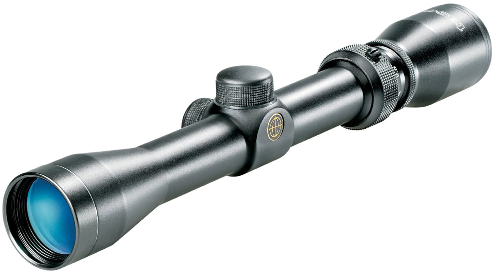 The Tasco World Class 1.5-4.5x 32mm is right at home on shotguns and muzzleloaders.