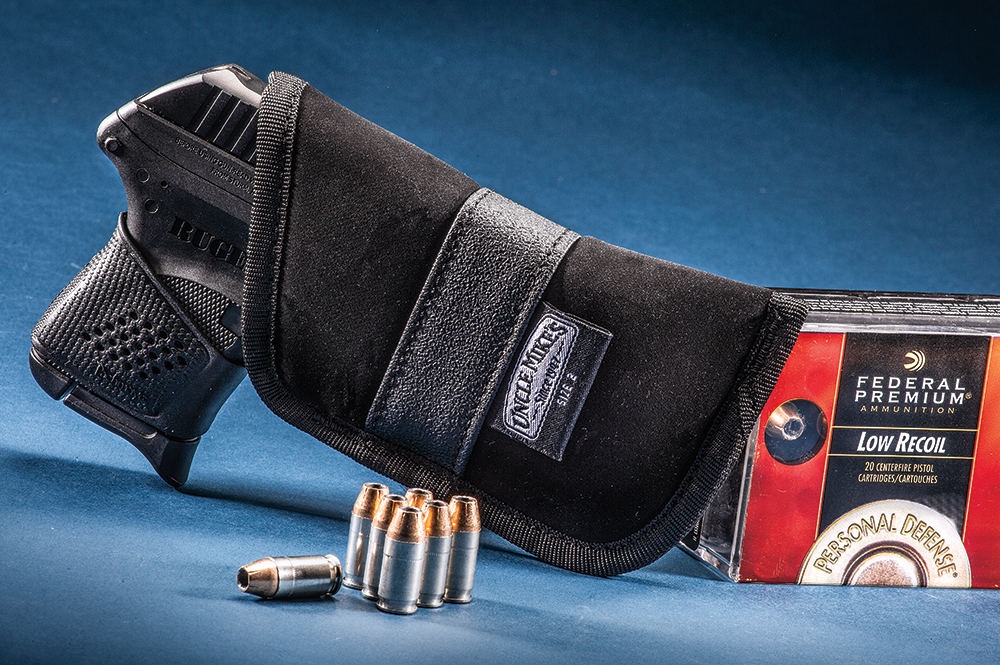 "When carrying a ""pocket gun,"" use a holster that conceals the gun's outline in your pocket and keeps the firearm accessible."