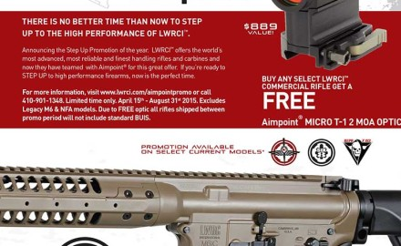 LWRC has partnered with Aimpoint to launch a new limited-time Step Up Promotion, in which buyers
