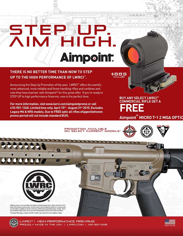 LWRC Now Offering Free Aimpoint Micro T-1 Optics on Select Models