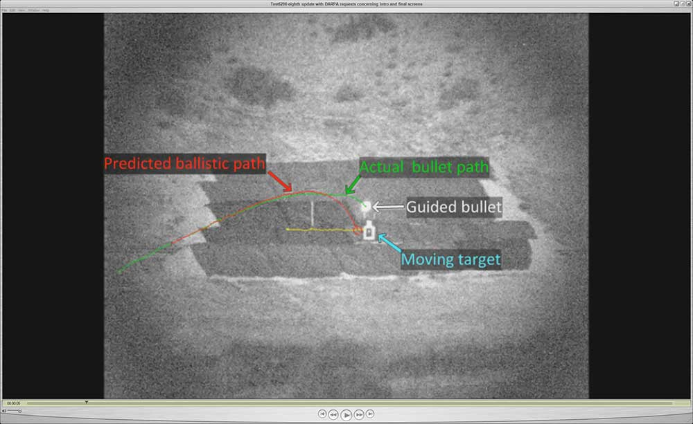 Self-Guided Bullet Testing Right On Target
