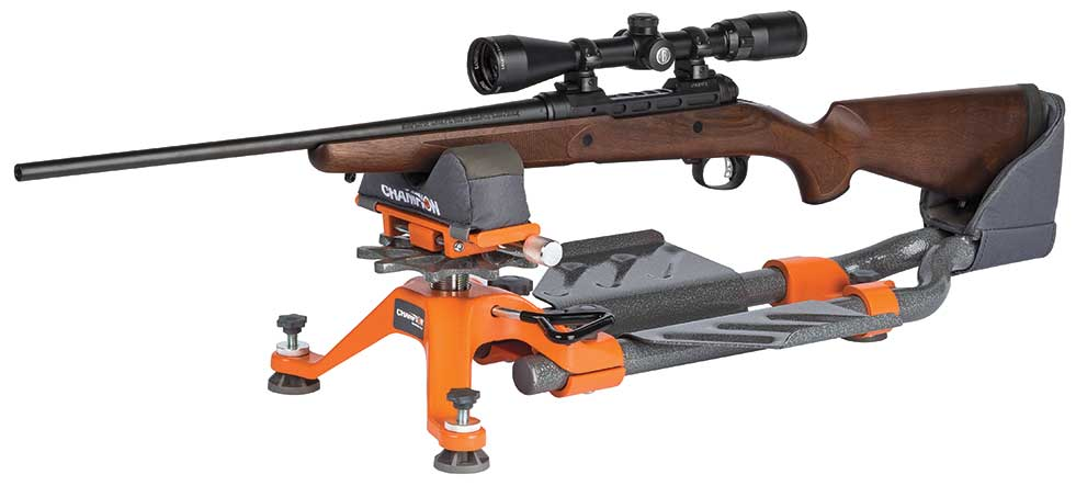 rifle scope zeroing with a shooting rest