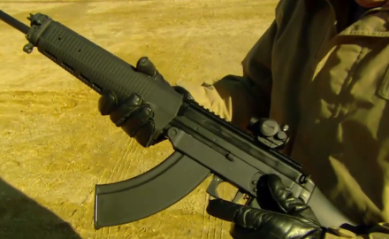 We talk with SIG about the 556 R rifle that uses AK-47 magazines and ammunition.