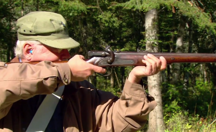 Garry James and David Fortier highlight the Terry Carbine.  It was a British issued rifle that