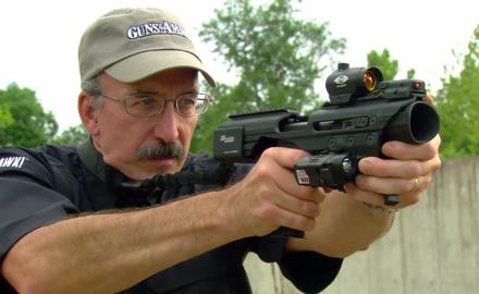 SIG has created a housing that can turn your handgun into a rifle platform.