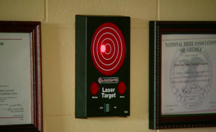 We feature the LaserLyte Target Training system.  You can practice shooting without ever having to