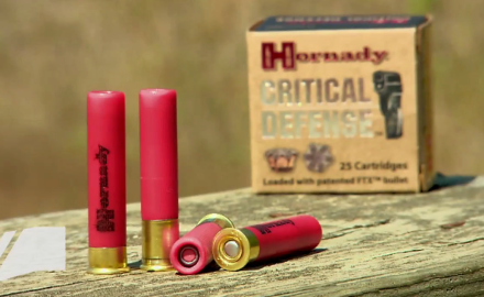 Fewer shots with more hits.  That's what Hornady's Critical Defense .410 handgun ammo delivers.