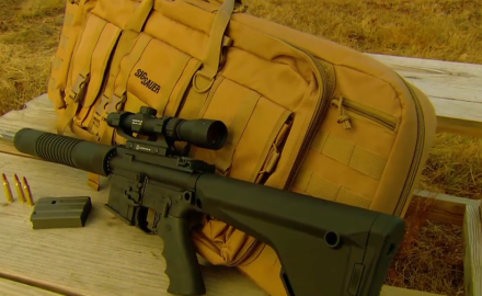 Our experts give the light weight SIGSauer M400 Predator Rifle a test run on the range.