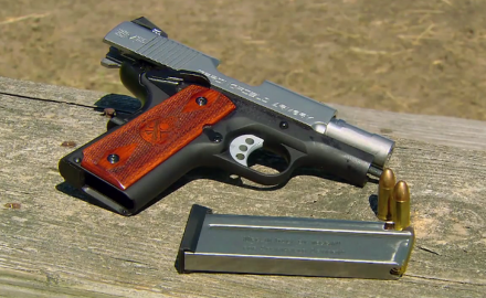Patrick Sweeney talks with Rob Leatham about the compact Springfield EMP 1911.