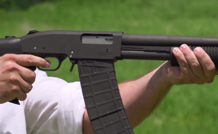 We offer an exclusive report on a prototype Black Aces Mossberg Model 500 conversion pump shotgun unit that is unlinke anything you've ever seen.