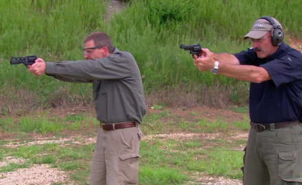 A look at the old school classic revolver vs. the Chiappa Rhino.