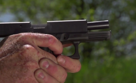 Mark Gurney of Ruger highlights the features of the SR45.