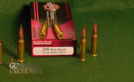 Patrick Sweeney is there to witness the very first shot of the Black Hills Sierra 175 Gr. Matchking