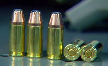 Patrick Sweeney checks out the Black Hills Hornady 124 grain XTP/JHP+P 9 mm load.