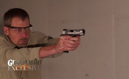 Patrick Sweeney talks with the folks at Smith & Wesson about the Performance Center SW 1911 .45.