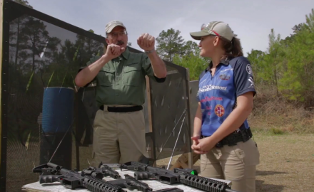 Patrick Sweeney and Lena Miculek discuss the benefits of using .22 handguns and ammo to train for match shooting.
