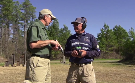 Patrick Sweeney and Jerry Miculek practice with moving targets combined with concealed carry