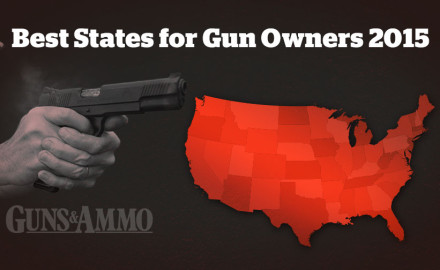 States were ranked numerically in each of five categories: right-to-carry, right to own