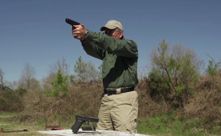 G&A's Patrick Sweeney tests the Glock 41 Gen4 in .45ACP at the range in this segment of Guna