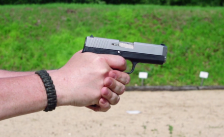 James Tarr and Todd Rassa are on the range with a pair of Kahr pistols; the CT40 and the CT 45.