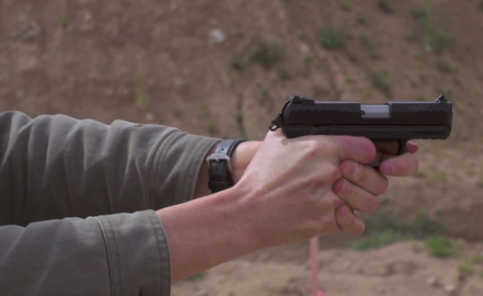 Our experts give the Ruger SR22 pistol a workout at the range.  This pistol has become very