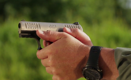 Kyle Lamb and Sean Utley highlight some of the features of the Walther CCP 9 mm.