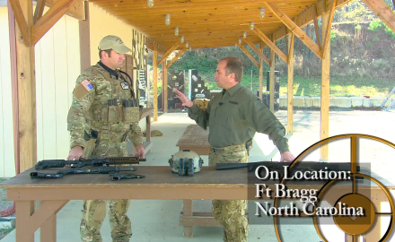 A Ft. Bragg instructor goes through common guns and gear that Green Beret soldiers would carry.
