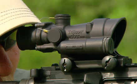 Craig Boddington and Kyle Lamb are at the range testing out the Trijicon ACOG 4x32 scope system.