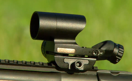 Guns and Ammo's Craig Boddington has the TruGlo Triton scope mounted on his bolt rifle and is