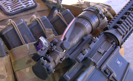 Two U.S. Armed Service veterans talk about the attributes of the ACOG optics system.