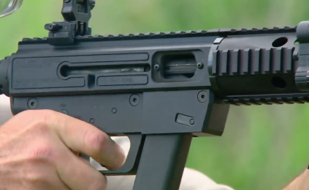 Patrick Sweeney and James Tarr highlight two pistol caliber rifles from Just Right Carbines.