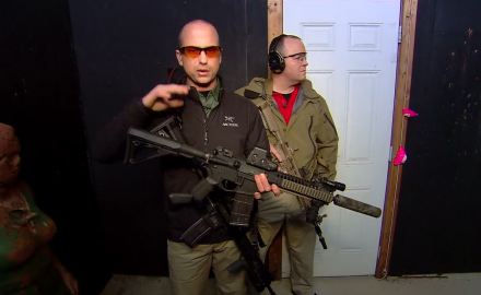 Carbines are becoming more and more popular for home defense.  One of the challenges with this