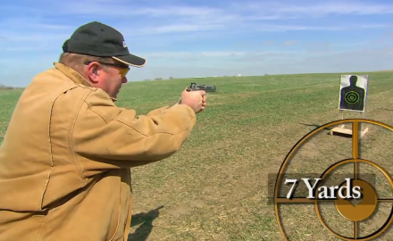 Our editors square off in a pistol shooting competition shooting from several distances.