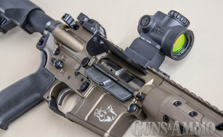 The Trijicon MRO (Miniature Rifle Optic) is an all-American-made, rugged and fully sealed tactical